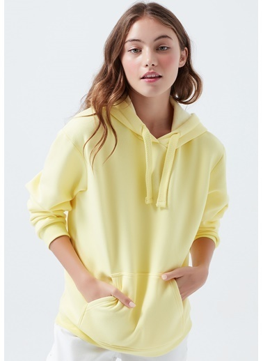 Mavi Sweatshirt Sarı